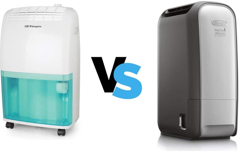 Deshumidificador compresor vs desecante