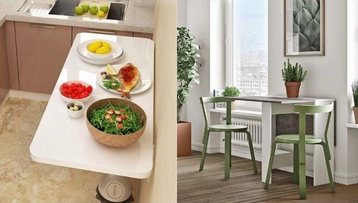 Tipos de mesas abatibles de cocina