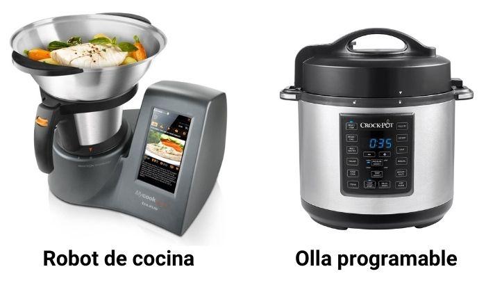 robot de cocina vs olla programable