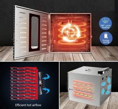 ventilador de un deshidratador de alimentos
